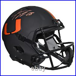 Jeremy Shockey Signed Miami Hurricanes Full-Size Eclipse Speed Replica Football