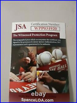 Jeremy Shockey autographed signed FS Rep helmet Miami Hurricanes JSA