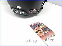 Jermey Shockey Miami Hurricanes Signed Autograph Full Size Helmet Schutt Black M
