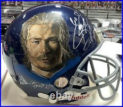 Jermey Shockey NY Giants Hand Painted Autograph Full Size Authentic Helmet JSA