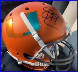 Jim Kelly Autographed Miami Hurricane Full Size Orange Helmet Beckett Certified