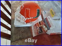 Jim Kelly Autographed Miami Hurricanes AMP Alternative Mini Helmet JSA COA