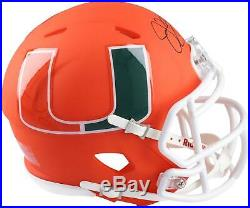 Jim Kelly Miami Hurricanes Autographed Riddell AMP Alternate Speed Mini Helmet