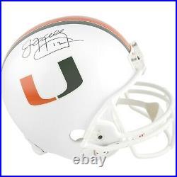 Jim Kelly Miami Hurricanes Autographed Riddell Replica Helmet
