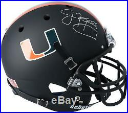 Jim Kelly Miami Hurricanes Autographed Schutt Black Matte Replica Helmet