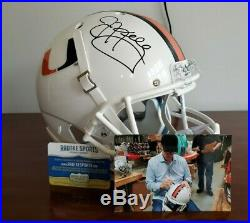 Jim Kelly Miami Hurricanes Signed Full Size Replica Helmet Radtke Sports COA