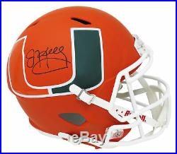 Jim Kelly Signed Miami Hurricanes AMP Riddell Speed Full Size Helmet SCHWARTZ