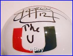 Jim Kelly Signed Miami Hurricanes Full Size Helmet withCOA Buffalo Bills THE U