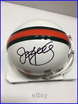 Jim Kelly Signed Miami Hurricanes Hof 2002 Mini Helmet Buffalo Bills Jsa