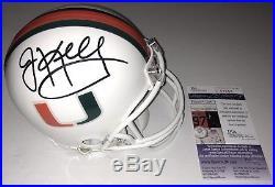 Jim Kelly Signed Miami Hurricanes Mini Helmet Buffalo Bills NFL Hof Auto+jsa Coa