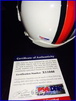 Jim Kelly Signed Miami Hurricanes Mini Helmet PSA CERT Buffalo Bills