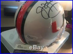 Jim Kelly Signed Miami Hurricanes Mini JSA Certified