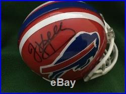 Jim Kelly Signed Mini Helmet Buffalo Bills Miami Hurricanes PSA DNA COA