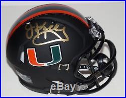 Jim Kelly Signed University Of Miami Hurricanes Mini Helmet Miami Nights Coa