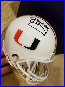 Jim Kelly signed University of Miami mini helmet Fanatics COA and hologram