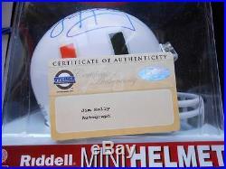 Jim Kelly signed college mini helmet Steiner coa Miami Hurricanes football auto