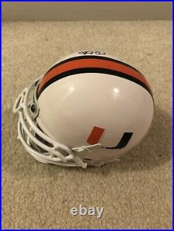 Jim Otto Miami Hurricanes Signed Mini Football Helmet NCAA JSA Oakland Raiders