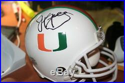 Jim kelly signed miami hurricanes mini helmet