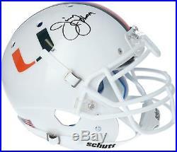 Jimmy Johnson Miami Hurricanes Autographed Riddell VSR4 Authentic Helmet