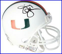 Jimmy Johnson Miami Hurricanes Autographed Riddell VSR4 Mini Helmet