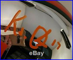 K. J. Osborn Autographed Signed Mini Chrome Helmet Miami Hurricanes JSA