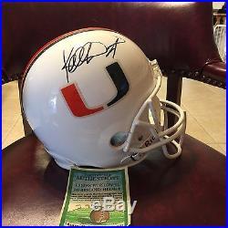 Kellen Winslow Jr Autographed Signed Miami Hurricanes Full Size Helmet Coa Hof