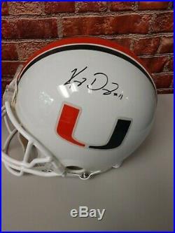 Ken Dorsey Signed Authentic Miami Hurricane FS Helmet