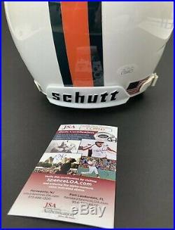 MANNY DIAZ signed Full Size Helmet MIAMI HURRICANES Coach Schutt Football JSA