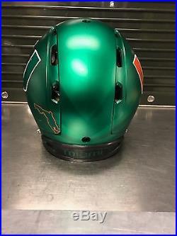 MIAMI HURRICANES AUTHENTIC Ibis Football Helmet (GREEN) 2014 Limited Edition