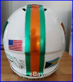 MIAMI HURRICANES Authentic Adult Football Helmet Riddell Revo Speed medium