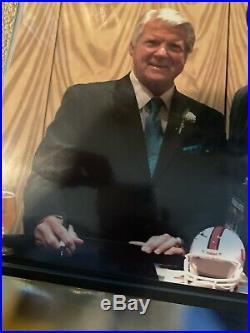 MIAMI HURRICANES COACH JIMMY JOHNSON SIGNED MINI HELMET Dallas Cowboys