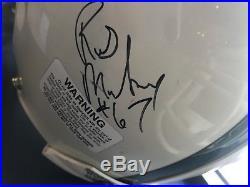 MIAMI HURRICANES GreatsCowboys Autograph F/S Authentic HELMET Michael Irvin