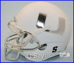 MIAMI HURRICANES GREEN Schutt XP Mini Helmet
