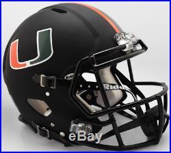 MIAMI HURRICANES NCAA Riddell SPEED Full Size Authentic Football Helmet