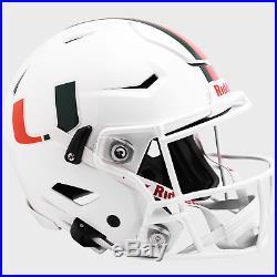 MIAMI HURRICANES NCAA Riddell SpeedFlex Full Size Authentic Football Helmet