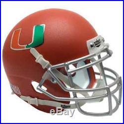 MIAMI HURRICANES NCAA Schutt XP Authentic MINI Football Helmet (MATTE ORANGE)