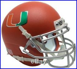 MIAMI HURRICANES NCAA Schutt XP Full Size REPLICA Football Helmet