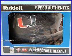 MIAMI HURRICANES Riddell Full-Size Speed Authentic Helmet (2017 NIGHTS ALT)