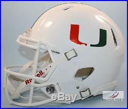 MIAMI HURRICANES Riddell Full-Size Speed Authentic Helmet (Metallic)