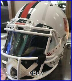 MIAMI HURRICANES Riddell Speed Full Size GAMEDAY Replica Football Helmet