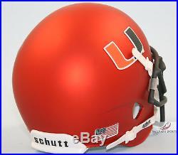 MIAMI HURRICANES (SATIN ORANGE) Schutt XP Mini Helmet