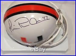 Michael Irvin Miami Hurricanes Cowboys Signed Mini Helmet Mounted Memories Holo