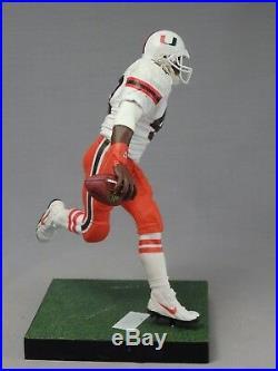 MICHAEL IRVIN custom Mcfarlane figure MIAMI HURRICANES Orange Jersey Helmet NFL