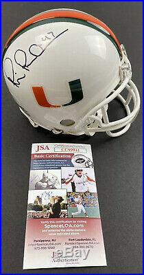 MICHAEL IRVIN signed Mini Helmet Schutt Miami Hurricanes JSA Authentication