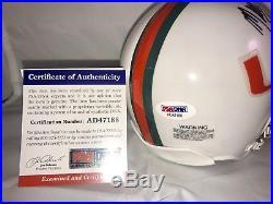 Mark Richt Hand Signed Autographed Miami Hurricanes Mini Helmet PSA DNA