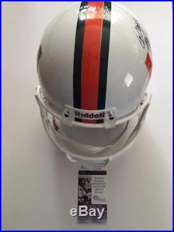 Mark Richt Miami Hurricanes Go Canes Jsa Signed Riddell Full Size Helmet Coa