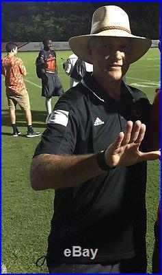 Mark Richt Signed Miami Hurricanes Mini Helmet With Coa And Proof
