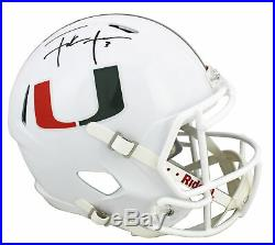 Miami Frank Gore Authentic Signed White Full Size Speed Rep Helmet BAS Witnessed