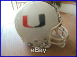 Miami Hurricane Competition Full Size Football Helmet From The 80's