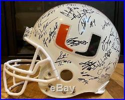 Miami Hurricanes 2000 Team Signed FS Helmet Ed Reed, Al Blades Autographed COA